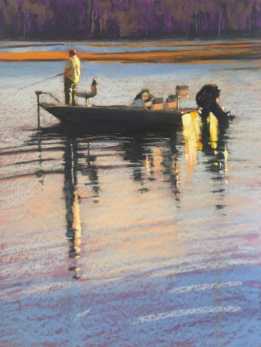 Afternoon Fishing   24x18 Pastel by Dave Kaphammer  $1275