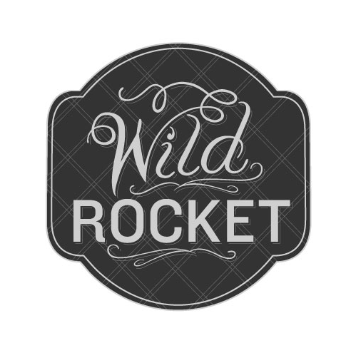Logo for Wild Rocket Restaurant in Seattle ©Modern Dog Design Co.