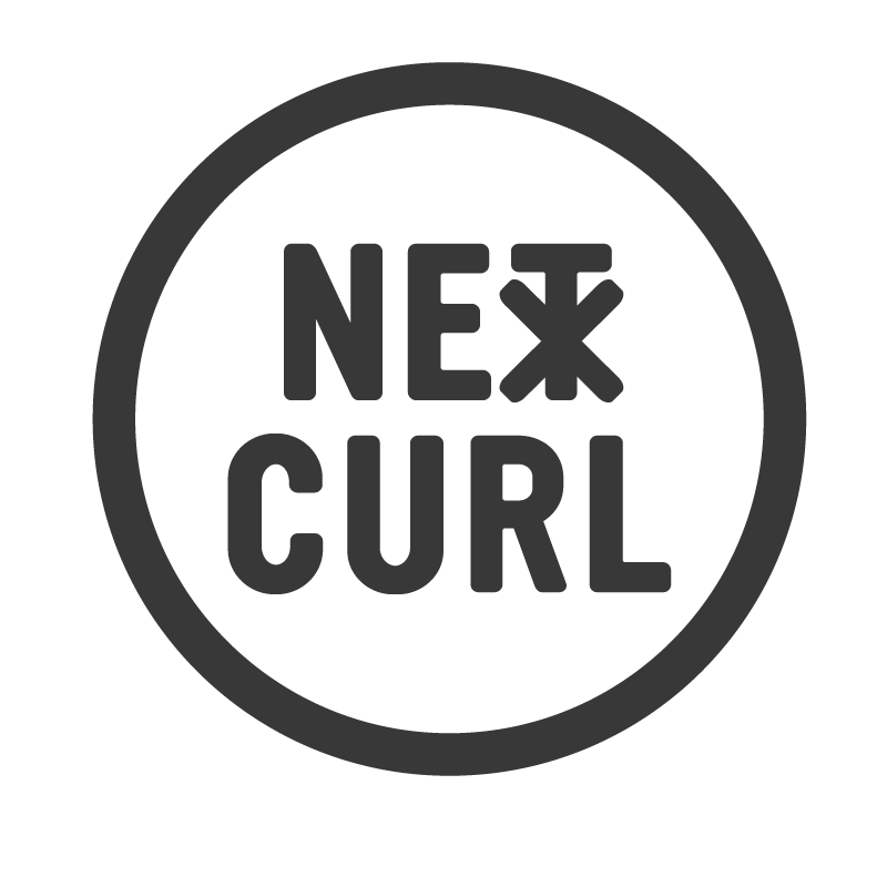 Logo design for NextCurl, a surfboard design start-up