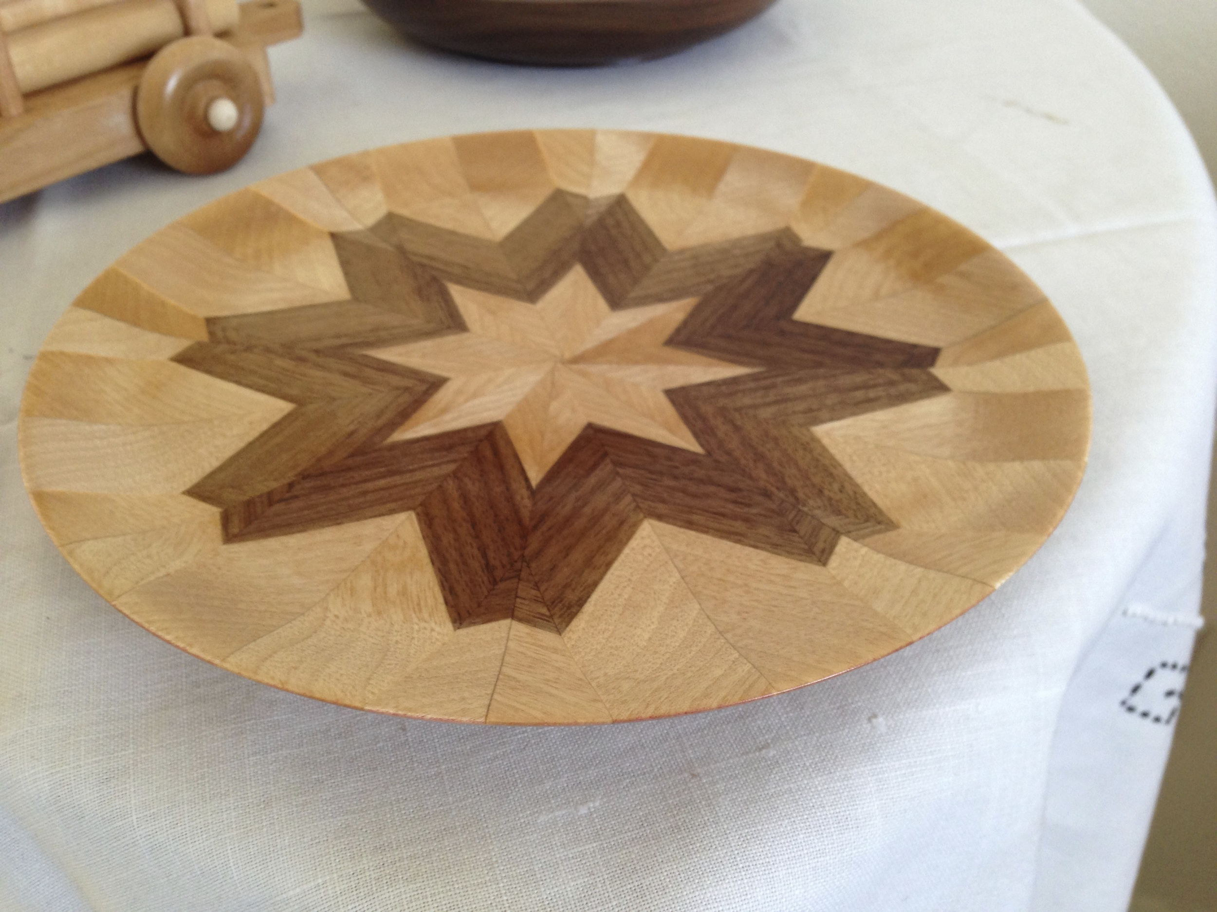 Segmented Walnut and Birch Plate