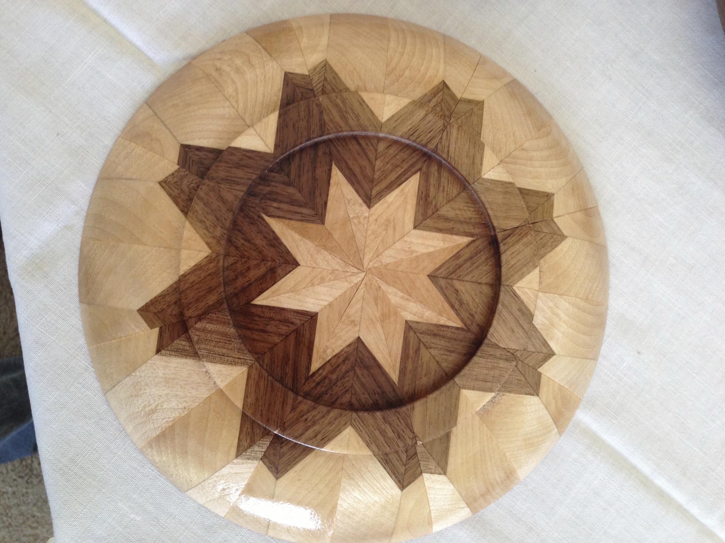 Segmented Walnut and Birch plate Back