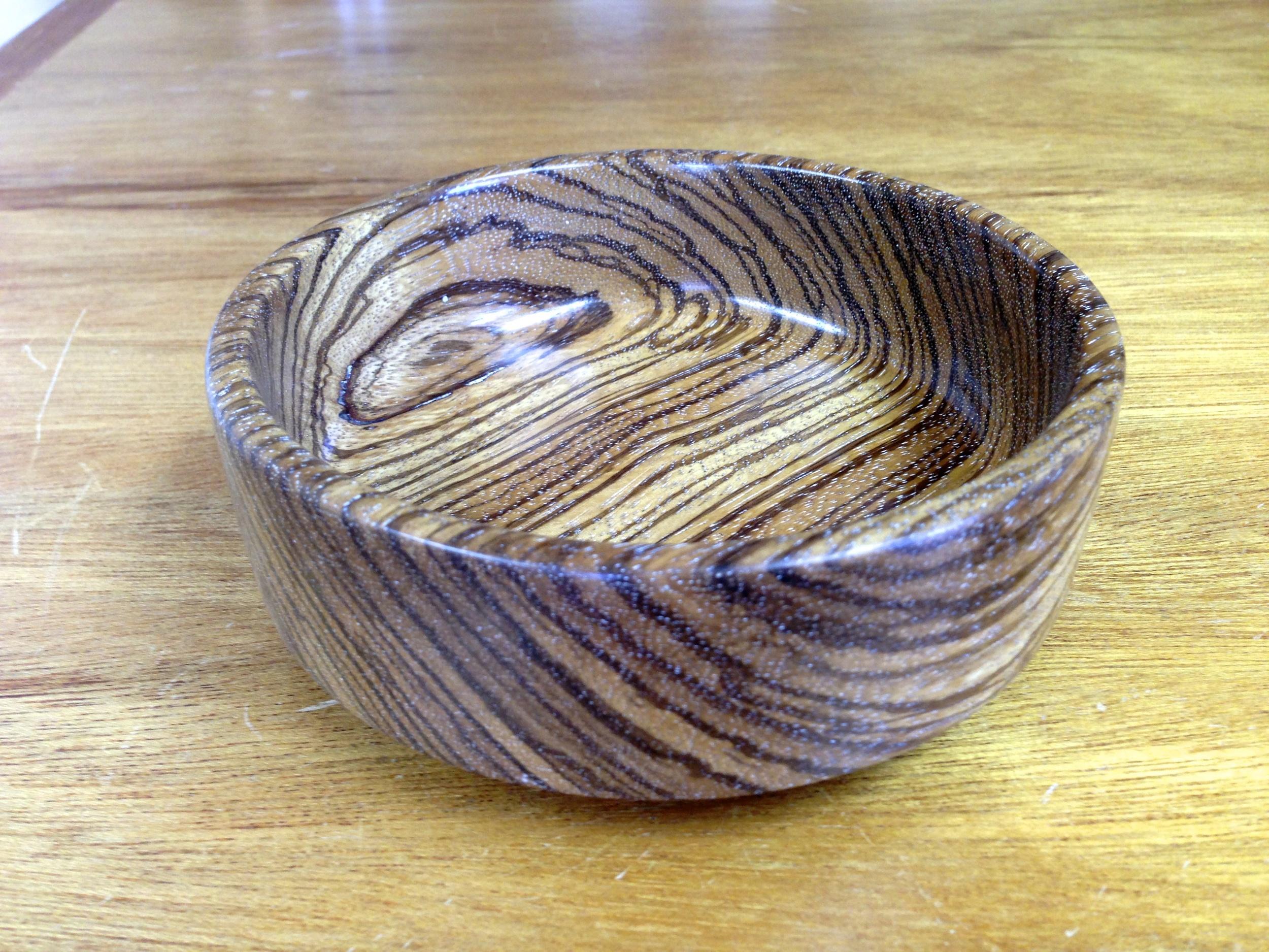 Zebra Wood Bowl