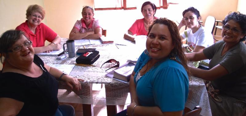 Leaders group (front from left): Estela, Angelica Ana, Marilin, Bernarda, E