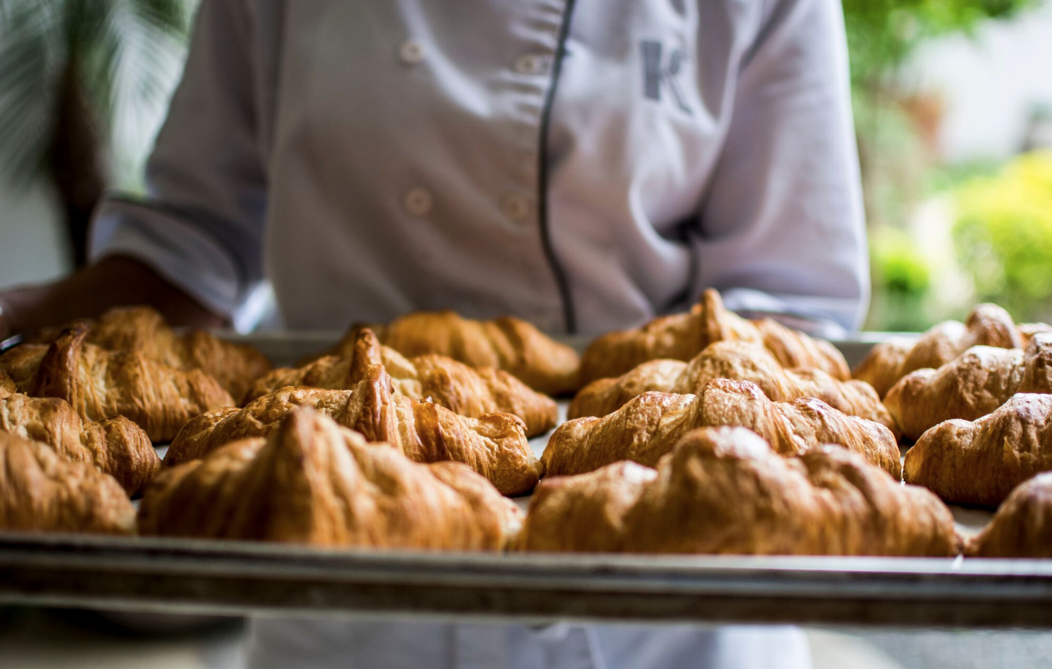 Croissants saliendo del horno!!! mmmmm....