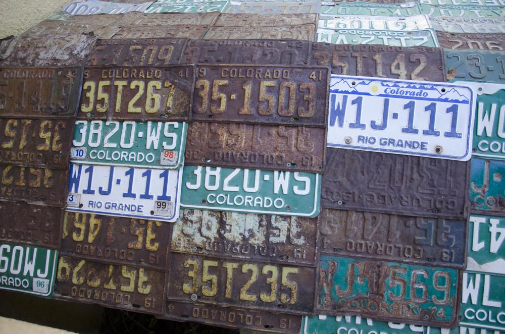 Colorado culture in a license plate
