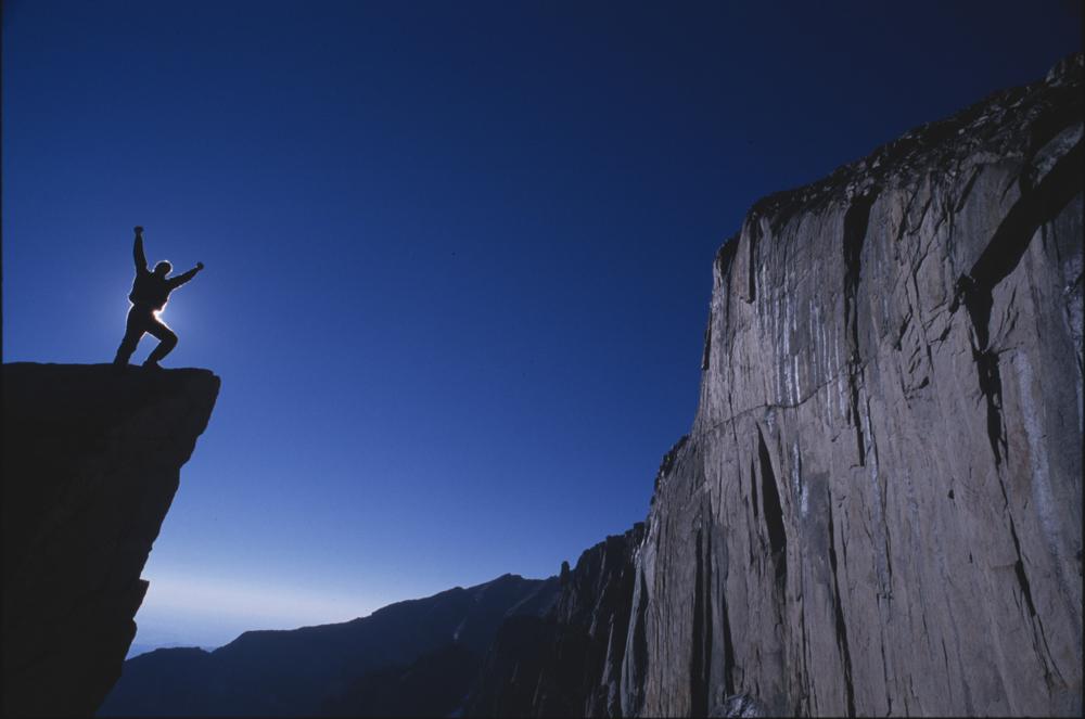 Climber celebrates