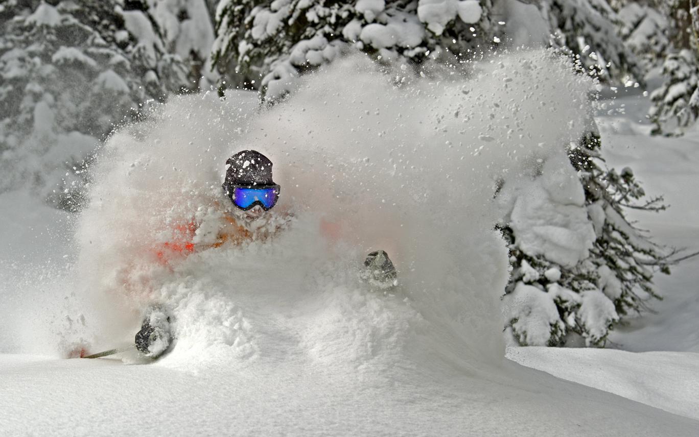 Powder skiing in Canada.
