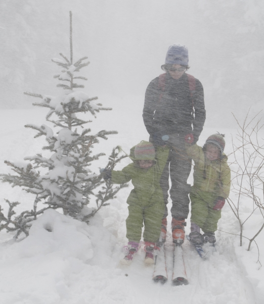 Ski touring can get miserable quickly - be ready for anything and don't get too far from the car.