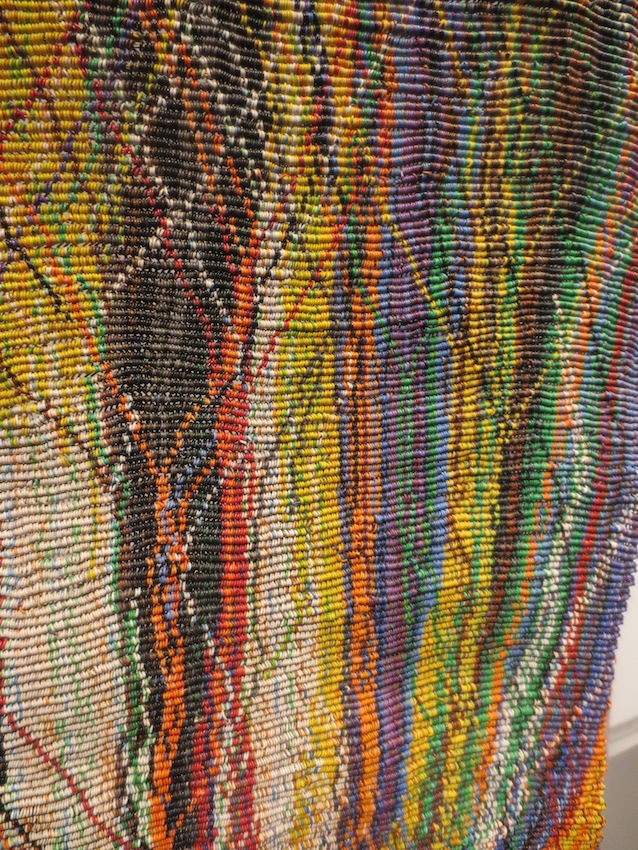 Detail of Telephone Wire Wall Hanging (2006), by Clare Graham.
