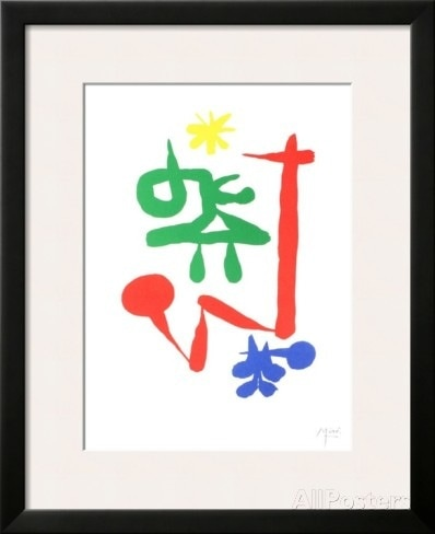 """Parler Seul"" (1947), by Joan Miró. Source: http://www. allposters.com/Posters_i10212240_.htm"