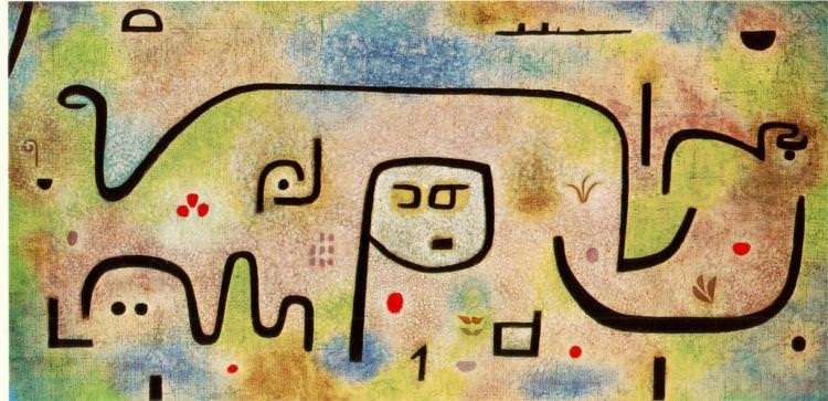"""Insula Dulcamara"" (1938), by Paul Klee. Source: https://learnodo-newtonic.com/paul-klee-famous-paintings"