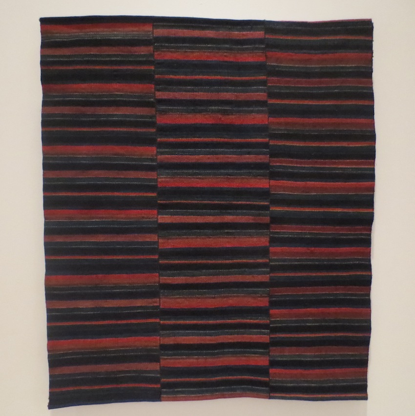 Tibetan apron panel, 1900s. Wool; twill weave.