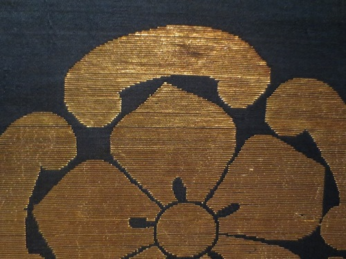 Detail of Japanese Buddhist altar cloth, late Edo period.