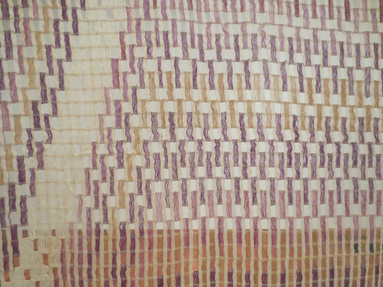 Detail of Balinese breast cloth (kamben cerek or wastra tirtanadi).