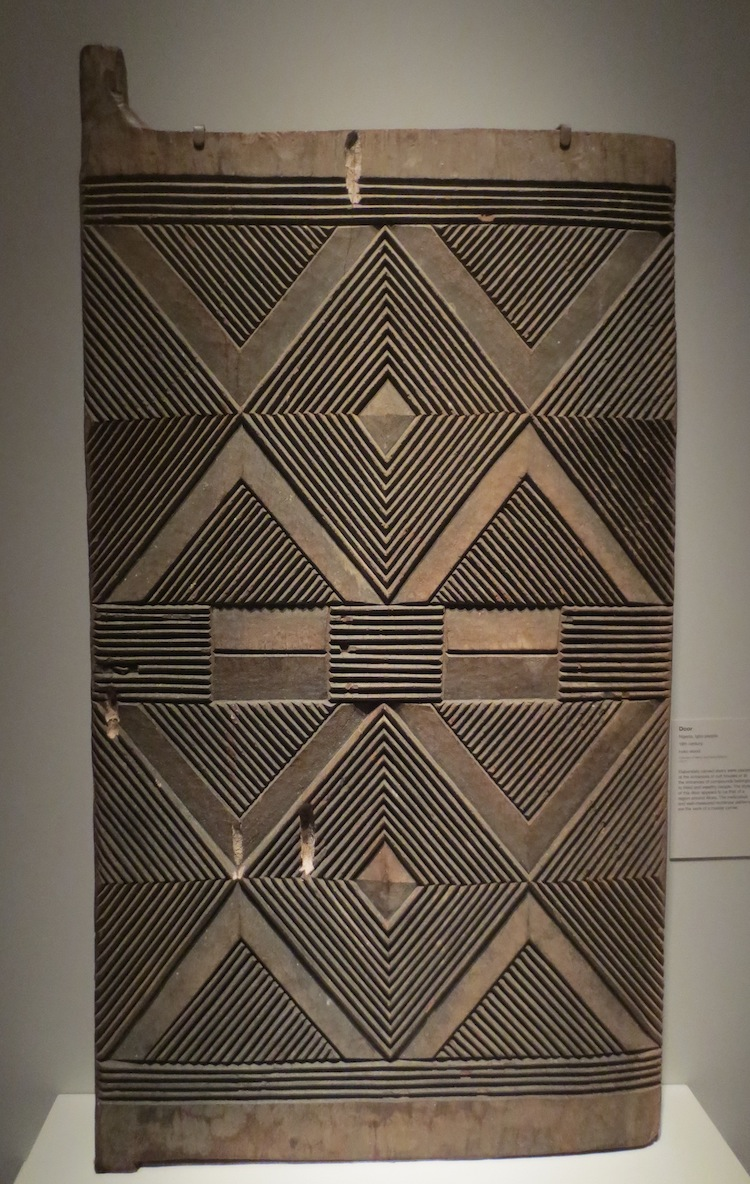 Nigerian door, Igbo people, 1800s; iroko wood.