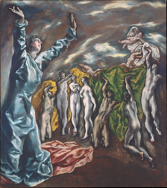 """The Vision of Saint John"" (ca. 1609–14), by El Greco (Domenikos Theotokopoulos). The Rogers Fund, The Met Breuer, New York."
