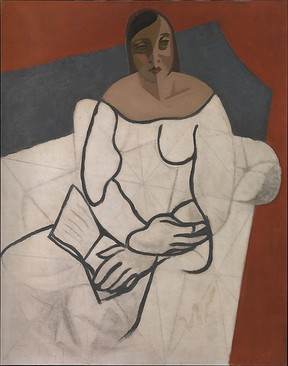 """Woman Reading"" (ca. 1927), by Juan Gris. ?Photo by Dianne Yanovick Dornquast. The Met Breuer, New York."