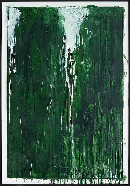 """Untitled I (Green Paintings)"" (ca. 1986), by Cy Twombly. ©Cy Twombly Foundation."