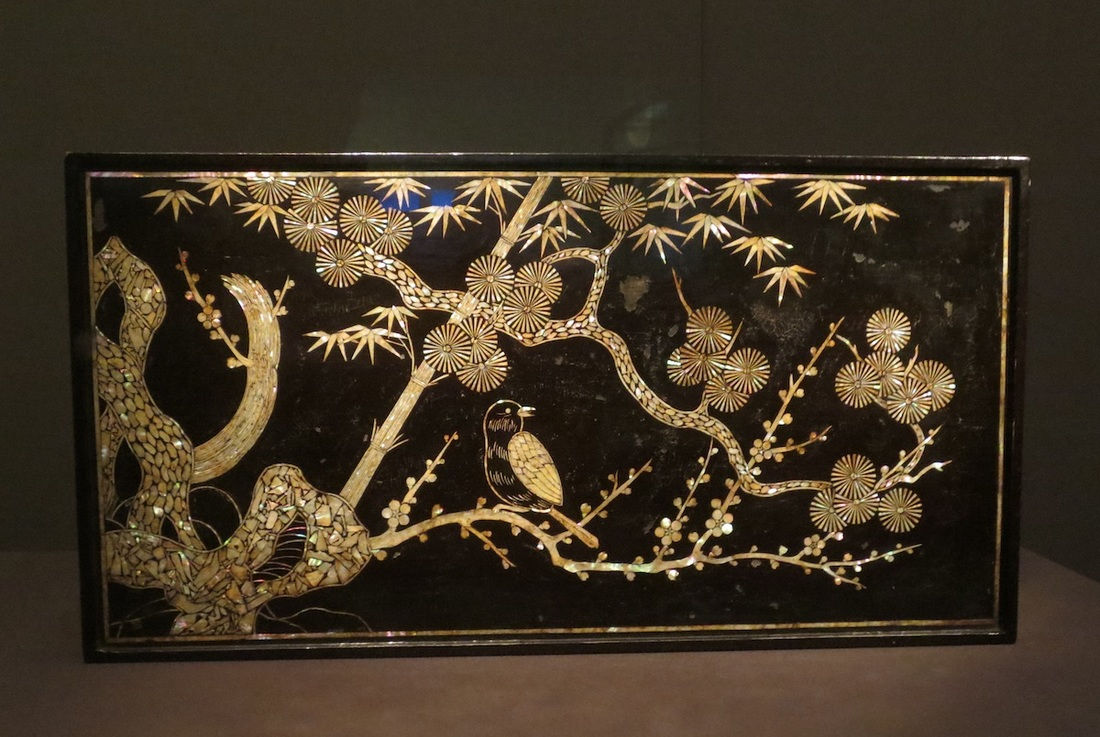 Table with birds and trees motif, 1700-1800. (Joseon dynasty, 1392-1910). Lacquered wood with inlaid mother-of-pearl. Asian Art Museum, San Francisco.