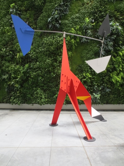"""Big Crinkly"" (1969), by Alexander Calder. Pat and Bill Wilson Sculpture Terrace, floor 3, Museum of Modern Art, San Francisco."