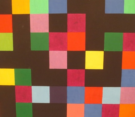 "Detail of ""Spectrum Colors Arranged by Chance"" (1951-1953), by Ellsworth Kelly, Museum of Modern Art, San Francisco."