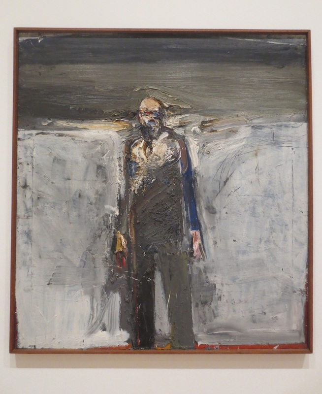 """Walking Man #2"" (1959), by Nathan Oliveira. Museum of Modern Art, San Francisco."