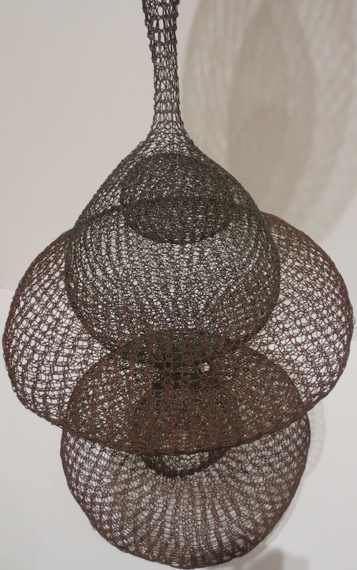 "Detail of ""Untitled"" (S.114, ca. 1958), by Ruth Asawa. Museum of Modern Art, San Francisco."