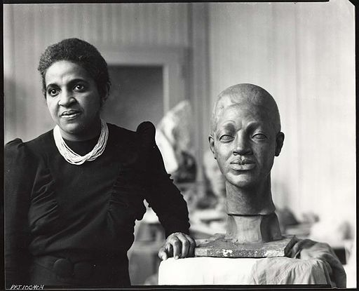 Selma Hortense Burke (1900-1995) in her studio. Photo by Peter A. Juley & Son. Source: https://commons.wikimedia.org/