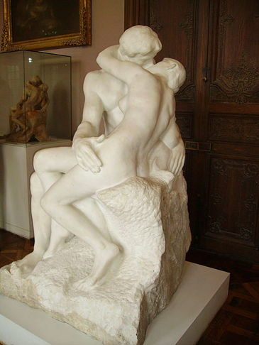 """The Kiss"" (1888-1898), by Auguste Rodin. Rodin Museum, Paris, France. Photo by Yair Haklai. Source: https://commons.wikimedia.org/"