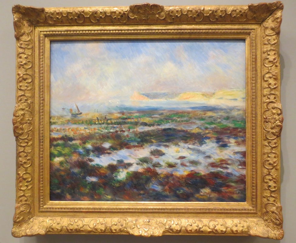 """Low Tide, Yport"" (1883), by Pierre-Auguste Renoir. Clark Institute of Art, Williamstown, Massachusetts."