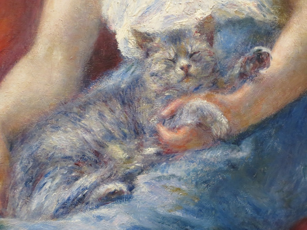 "Close-up of ""Sleeping Girl"" (1880), by Pierre-August Renoir. The Clark Art Institute, Williamstown, MA."