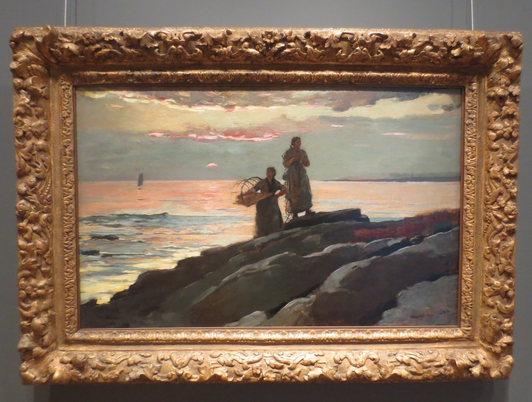 """Saco Bay"" (1896), by Winslow Homer. The Clark Art Institute, Williamstown, MA."