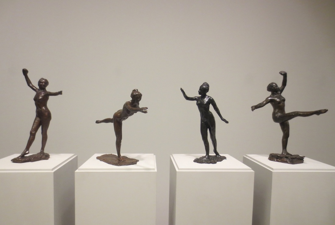 These four dancers were modeled by Edgar Degas in the 1880s, then cast 1919-1921. The Clark Art Institute, Williamstown, MA.