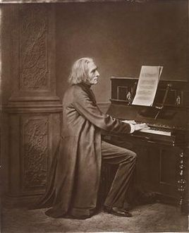 Franz Liszt (c1869), by Franz Seraph Hanfstaengl.  Source: https://commons.wikimedia.org