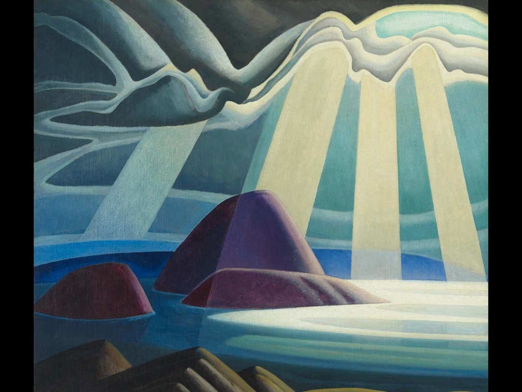 """Lake Superior"" (c. 1923), by Lawren Harris. The Thomson Collection at the Art Gallery of Ontario. © Art Gallery of Ontario. © Family of Lawren S. Harris. Source: http://www.mfa.org"