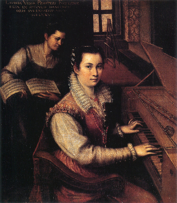 """Self-portrait at the Clavichord with a Servant"" (1576), by Lavinia Fontana. Source: https://commons.wikimedia.org"