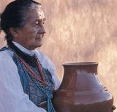 Tewa artist Margaret Tafoya, New Mexico. Source: http://nmwa.org/
