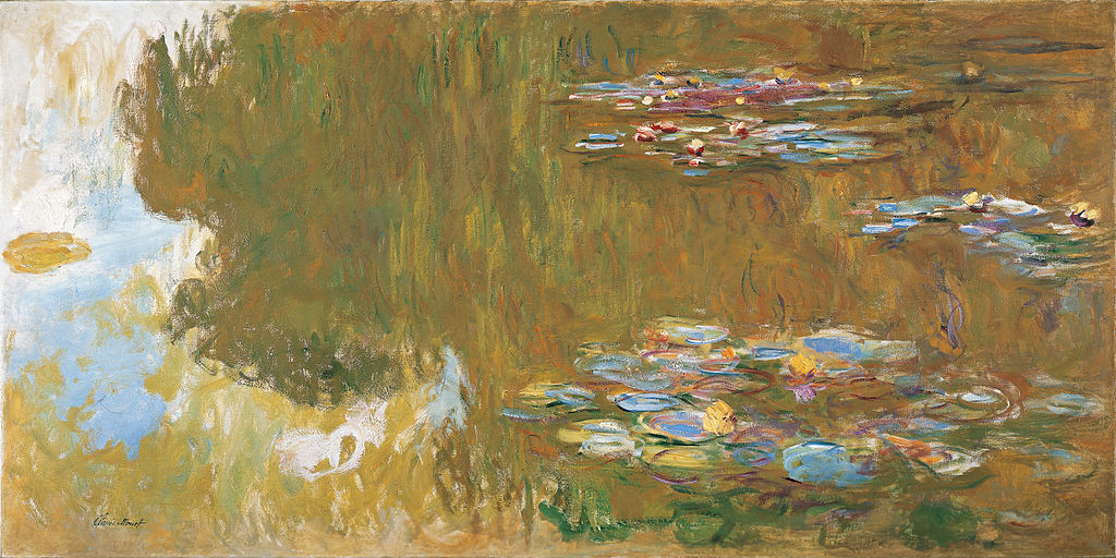 """The Water Lily Pond"" (c. 1917-19), by Claude Monet. Source: https://commons.wikimedia.org"