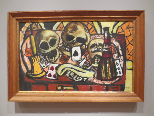 """Still Life with. Three Skulls"" (1945), by Max Beckmann. Museum of Fine Arts, Boston."