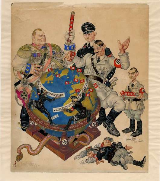 """Madness"" (1941), by Arthur Szyk. Magnes Collection, University of California, Berkeley."