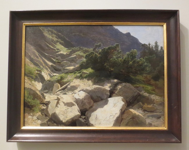"""Riverbed at Rosenlaui sur Meyringen"" (c.1862), by Alexandre Calame. The Clark Art Institute, Williamstown, MA."