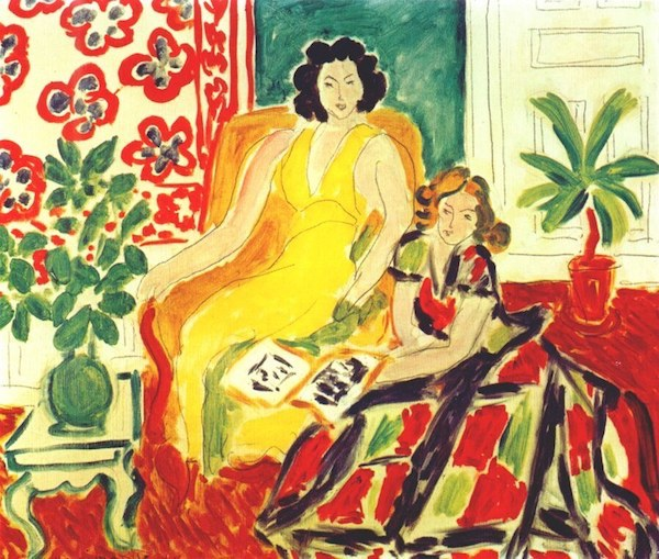 """Yellow and Plaid Dresses"" (1941), by Henri Matisse. Source: https://theartstack.com/artist/henri-matisse/yellow-and-plaid-dresses"