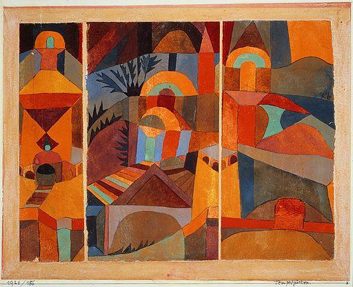 """Templegarten"" (Temple Gardens), 1920, by Paul Klee. Source: https://commons.wikimedia.org/. Metropolitan Museum of Art, New York."