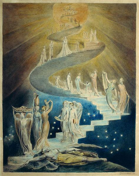 Jacob's Ladder    (c. 1805), by William Blake. British Museum,   London.  Source: https://commons.wikimedia.org/