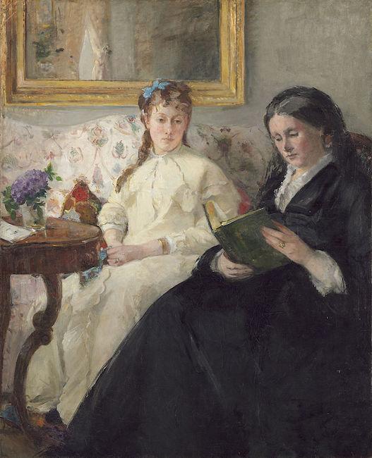 Portrait de Mme Morisot et de sa fille Mme Pontillon ou La lecture  (1869/70), by Berthe Morisot. National Gallery of Art,   Washington, D.C.  Source: https://commons.wikimedia.org
