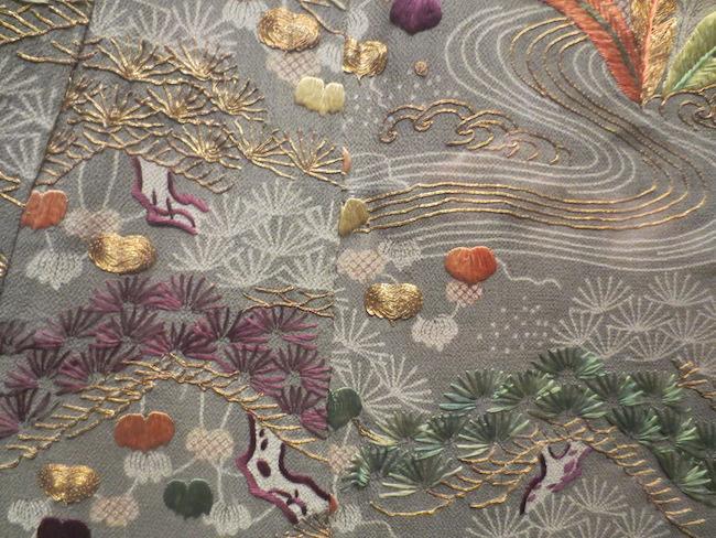 Detail of  kosode . Asian Art Museum, San Francisco.