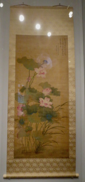 """""""Summer Lotus"""" (1688), painting on silk by Yun Shouping. Asian Art Museum, San Francisco."""