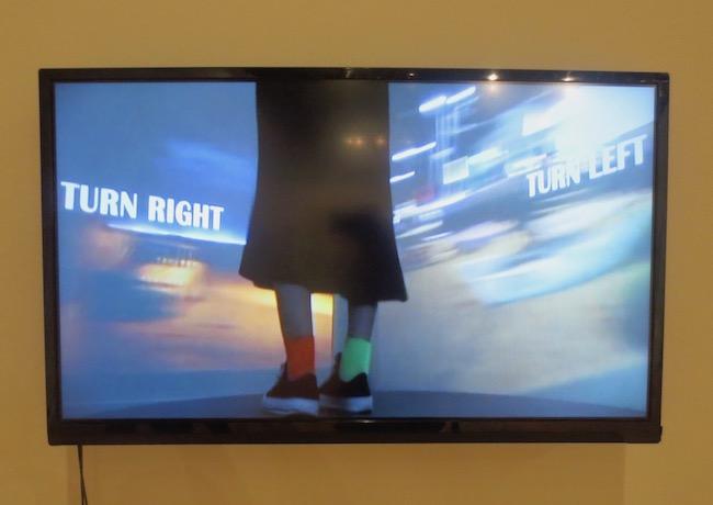 """Turn Right, Turn Left"" (2017), four-channel video installation by Minji Sohn."