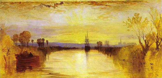 """Chichester Canal"" (c. 1828), by J.M.W.Turner. Tate, London . Source: https://commons.wikimedia.org/"