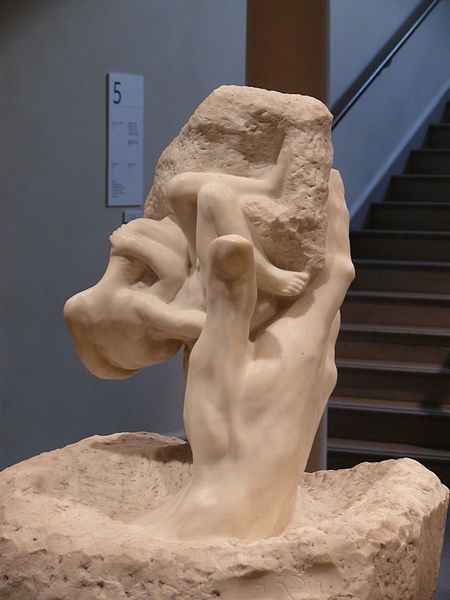 """The Hand of God"" (1898; 1917), by August Rodin. Rhode Island School of Design Museum, Providence . Source: https://commons.wikimedia.org"